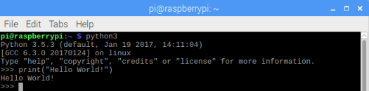 Raspberry Pi 3.5 Python Hello World from command line.png