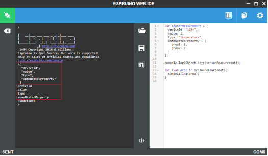 ESP32 Espruino JavaScript Getting object property names.png