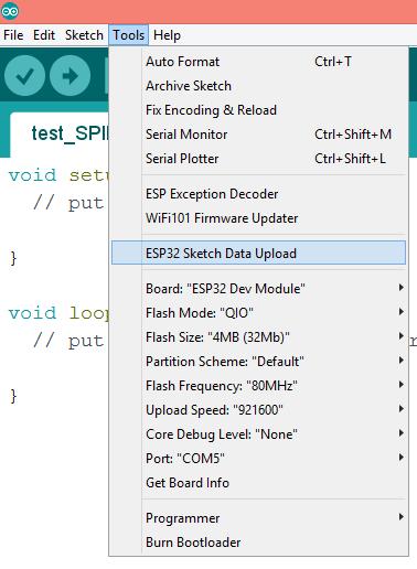 ESP32 SPIFFS Arduino plugin upload file.png