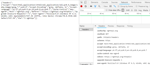 Testing HTTP/2 headers in GET request