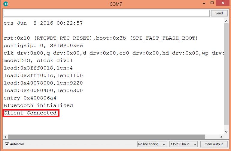 ESP32 Arduino Serial over Bluetooth: Client connection event