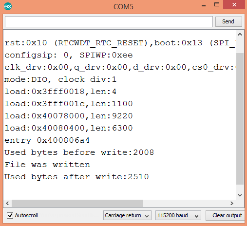ESP32 Arduino core SPIFFS getting total used bytes
