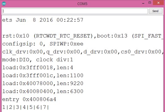 Output of the program, showing the final array with duplicates removed by the cpplinq distinct operator.