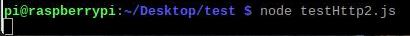 Running the HTTP/2 server Node.js script.