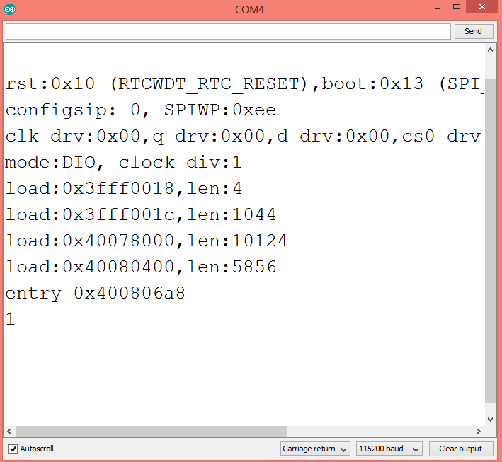 Output of the program, showing the extracted URL variable.