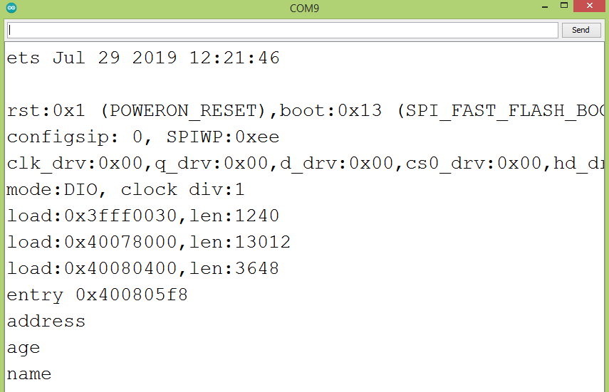 Printing all the keys in the root of the JSON object.