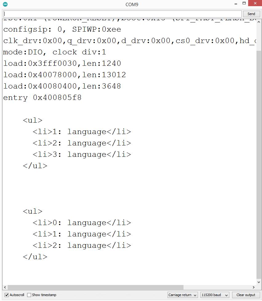 Inja template engine resolving loops.