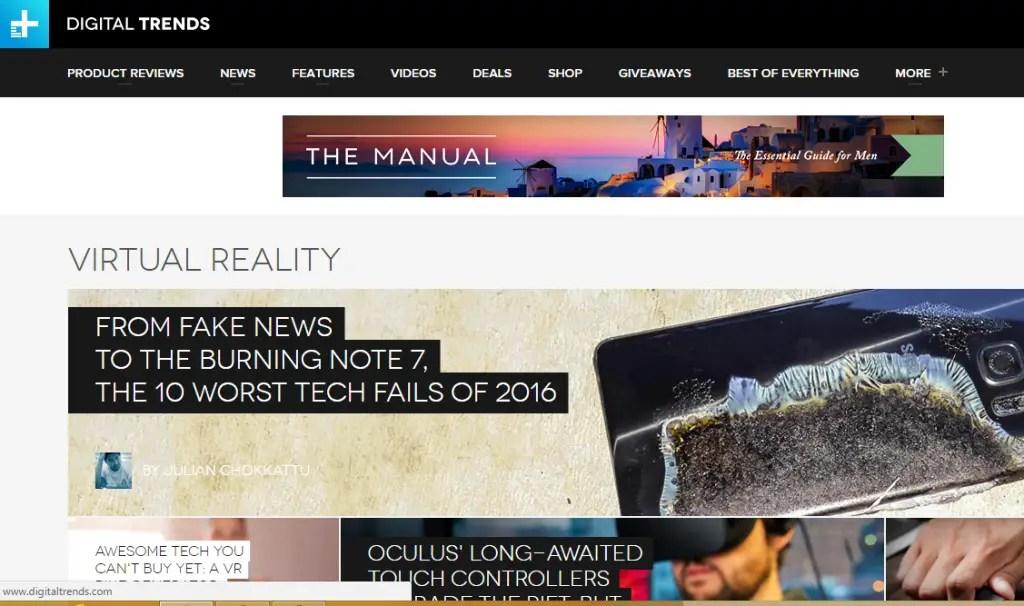 Digital Trends - Best Virtual Reality Websites