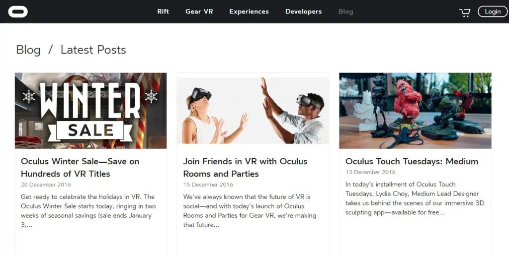 Oculus - Best Virtual Reality Websites