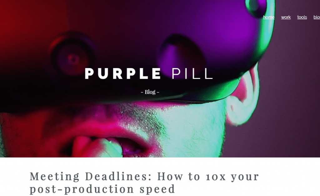 Purple Pill - Best Virtual Reality Websites