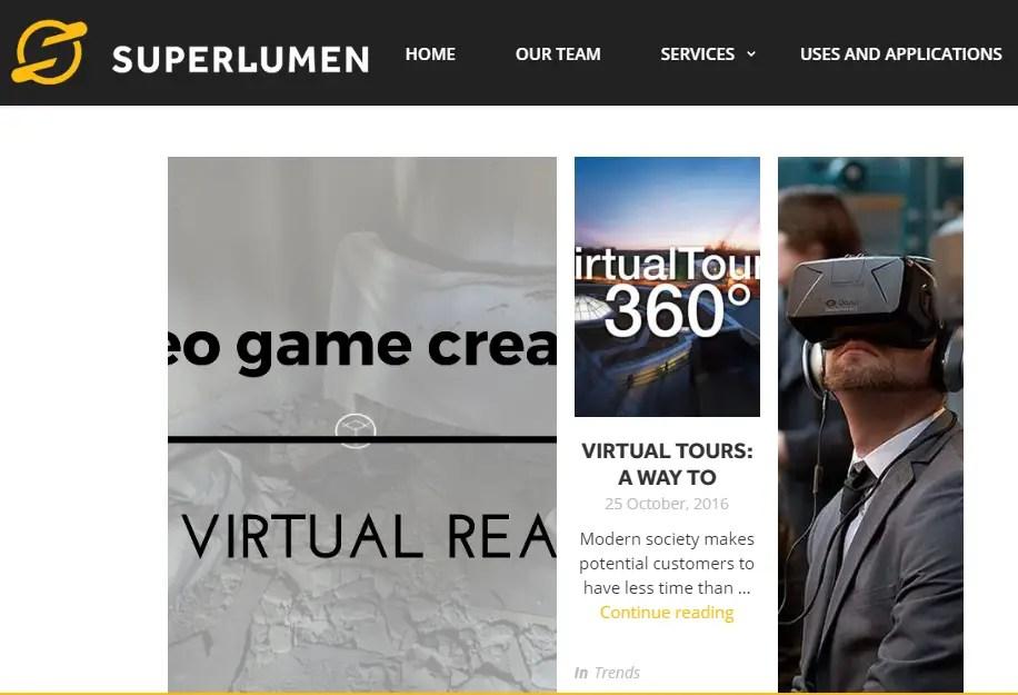 Super Lumen - Best Virtual Reality Websites