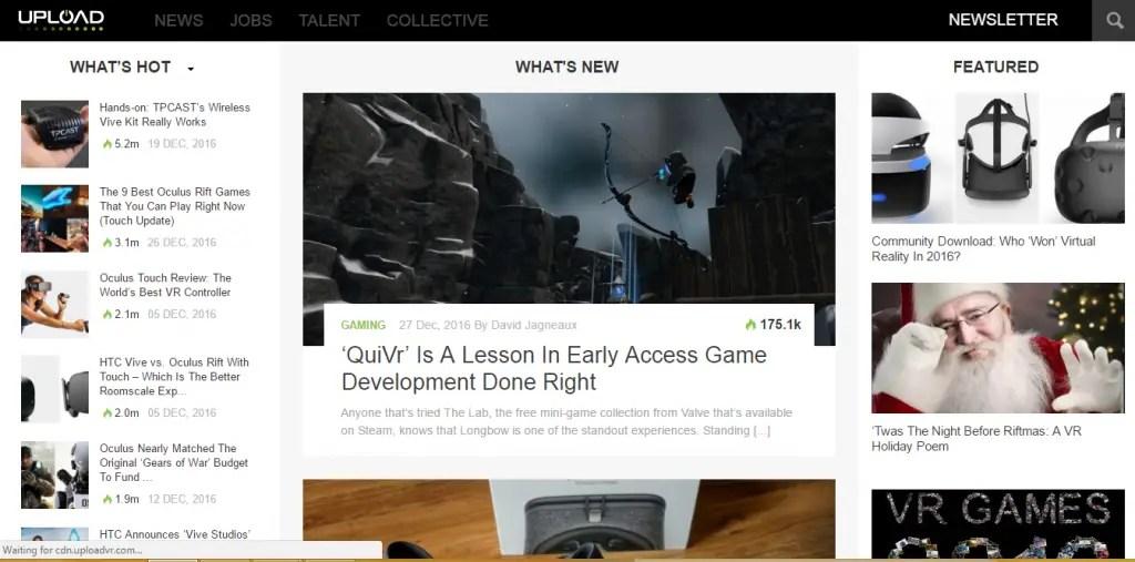 Upload VR - Best Virtual Reality Websites