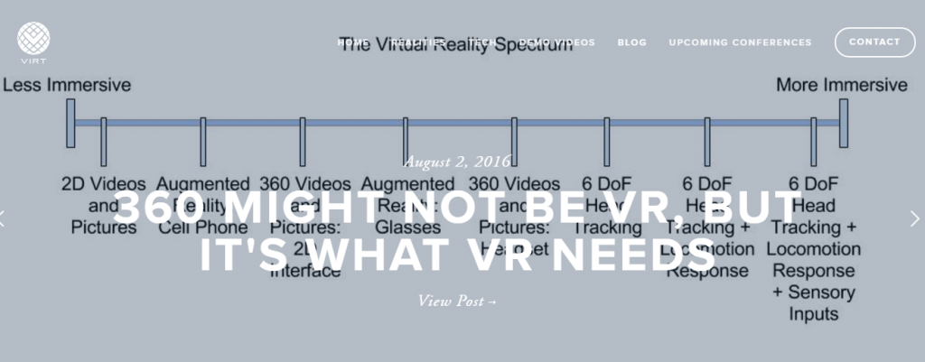 Virt - Best Virtual Reality Websites