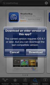Older versions of the iPhone now can install more applications