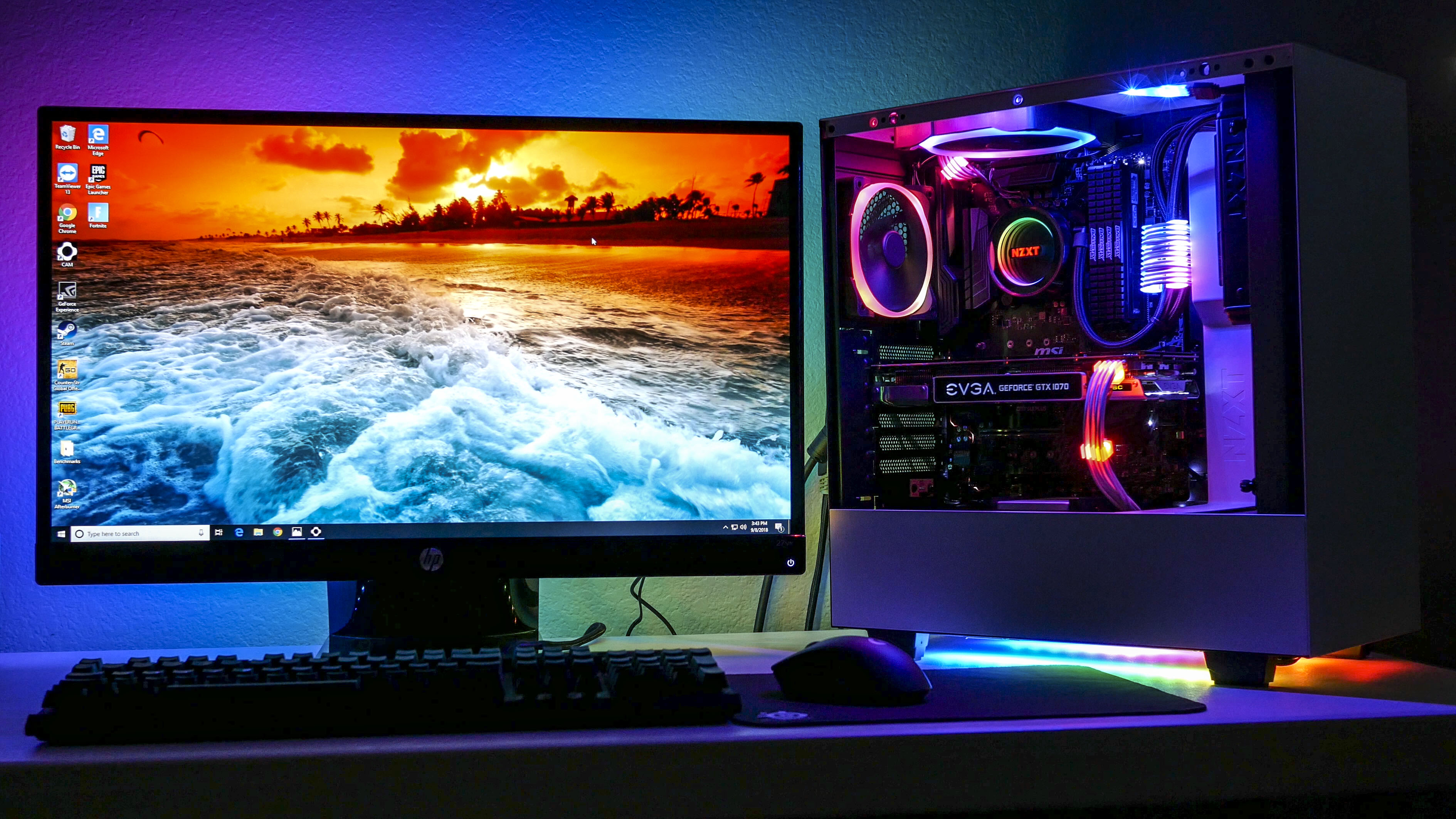 NZXT Hue 2 RGB LED Strips Extension Kit 2x 300mm RGB LED Strip CAM-Powered