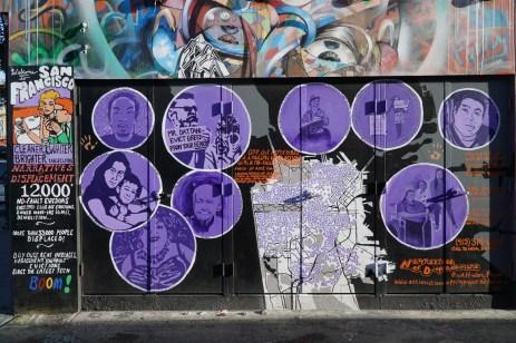 Anti-Gentrifizierungs-Graffiti in San Francisco