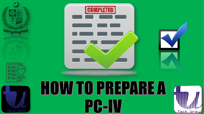 HOW TO PREPARE A PC-IV | PC-I TO PC-V TUTORIAL STEP BY STEP IN URDU | PART 5/7 1