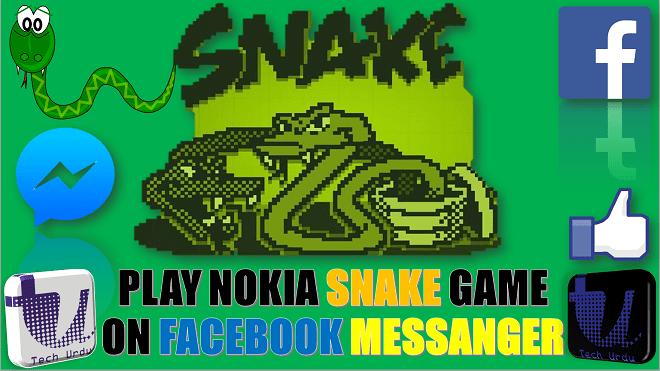 PLAY NOKIA'S SNAKE GAME ON FACEBOOK MESSENGER   HOW TO PLAY GAMES ON FACEBOOK MESSENGER [Urdu/Hindi] 1