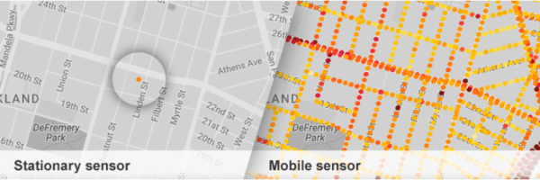 Google Earth Now Shows Air Pollution Levels using mobile sensing