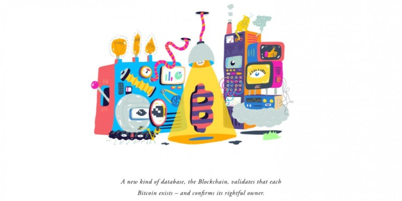 Bitcoin Illustration Blcokchain