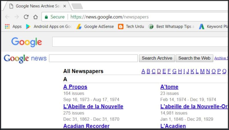 Google Search by Old Newspapaers Archive - Tech Urdu