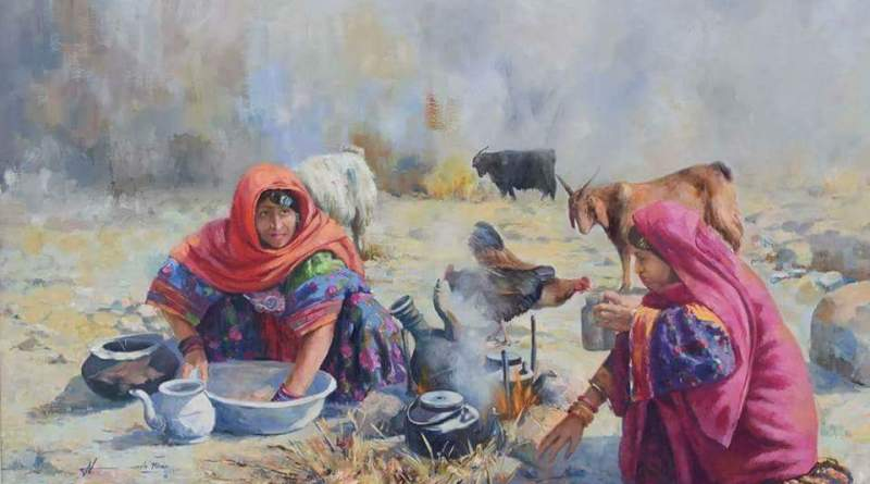 Pashtun Culture Depicted in PAINTINGS with Game of Thrones Rabab Music | Majestic Pakistan