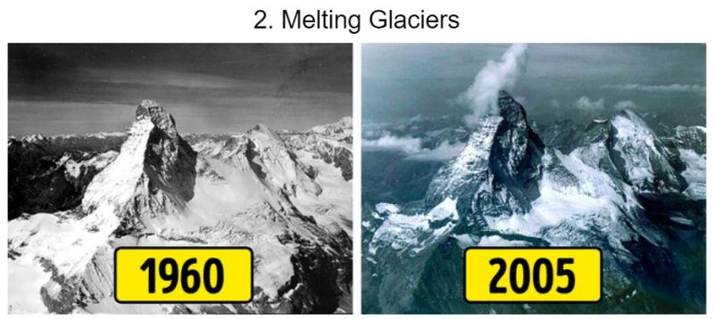 15 Photos of Earth Before and AFter - Melting Glaciers - Tech Urdu