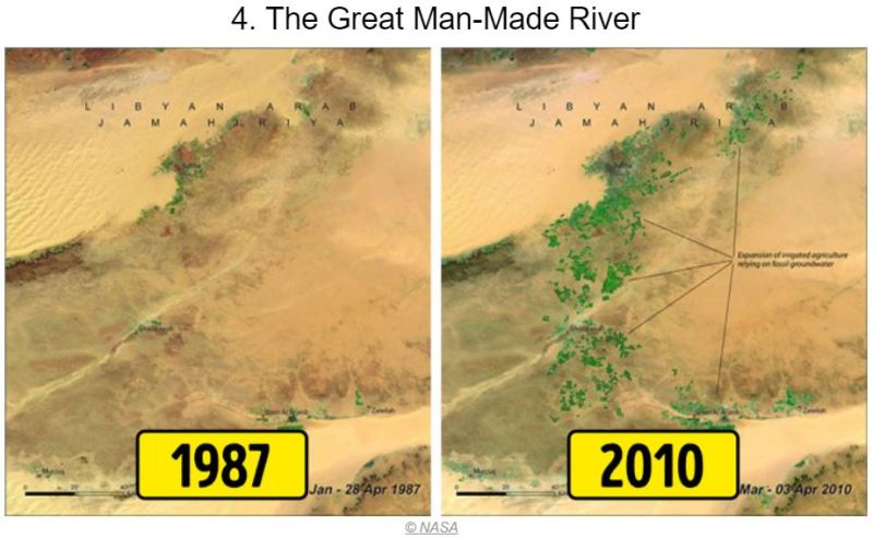 15 Photos of Earth Before and AFter - The Great Man-made Rivers - Tech Urdu