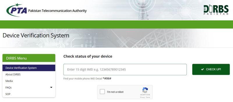 DIRBS - Mobile Verification PTA LaunchesDIRBS - Tech Urdu