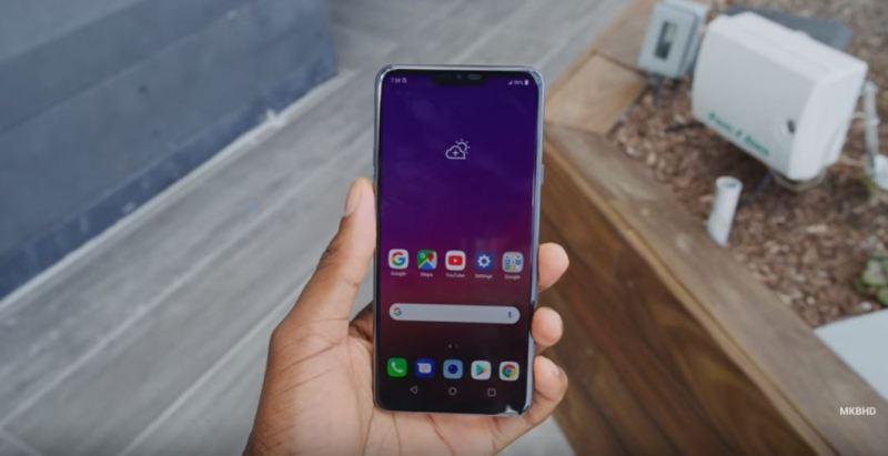 LG G7 Thinq - MKBHD - front vide display- tech urdu
