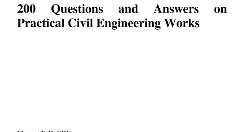 Civil Engineering Questions Answers - Tech Urdu