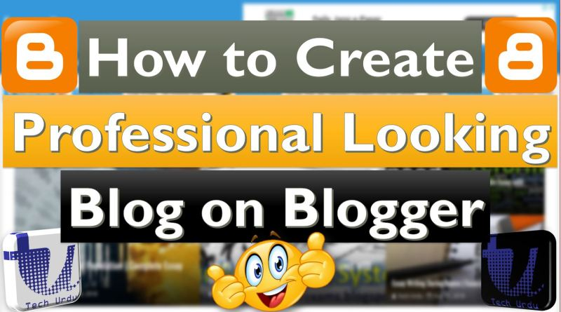 Professional Looking Blogger/Blogspot Blog