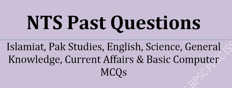 NTS Past Questions Solved (Free Download)