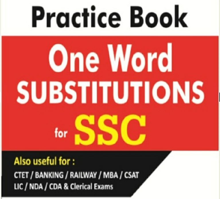 One Word Substitution MCQs (Free Download)