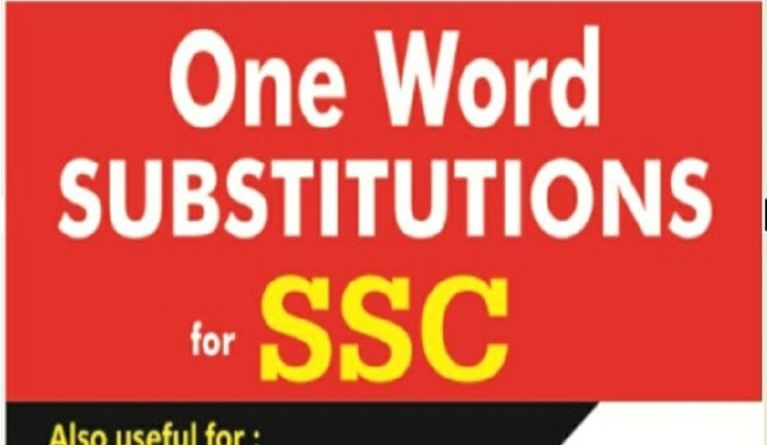 One Word Substitution MCQs