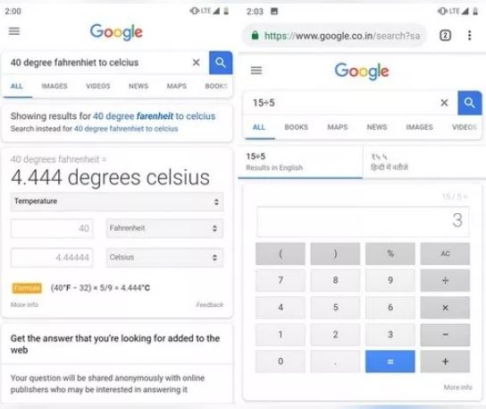 Google Search Now Directly Answers Some Questions Without Showing Other Results