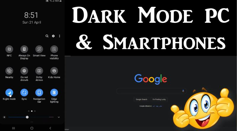 How to Enable Dark Mode on Laptop / PC, Mobile Phone, YouTube, Facebook Messenger, etc.? - Tech Urdu