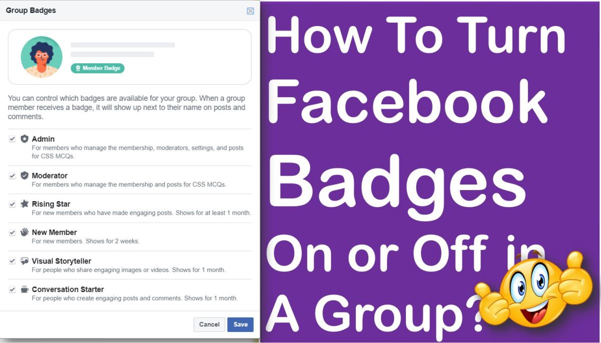 How To Turn Facebook Badges On or Off in A Group?