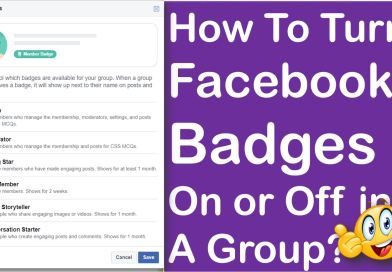 How To Turn Facebook Badges On or Off in A Group? - Tech Urdu