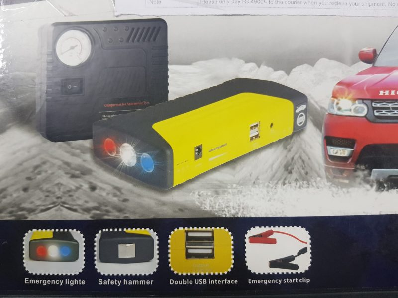 Multi-Function Car Jump Starter Power Bank with Air Compressor 3
