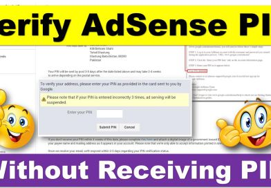 Here is How to Verify Google AdSense Without Receiving Address Verification PIN - techurdu.net