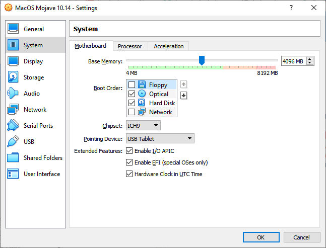 Customize System option