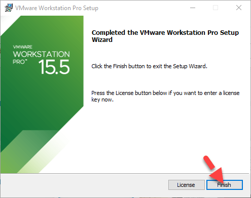 VMware installed on Windows 10