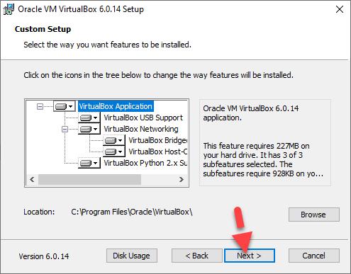 Virtualbox Installation on Windows