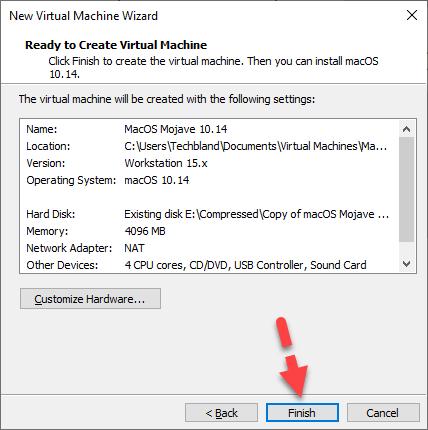 MacOS Mojave VM has Created