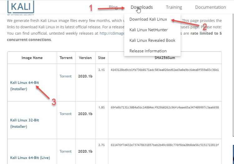 kali linux on virtualbox