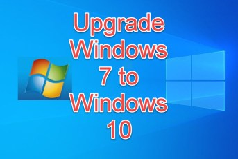 upgrade Windows 7 to Windows 10 without losing data