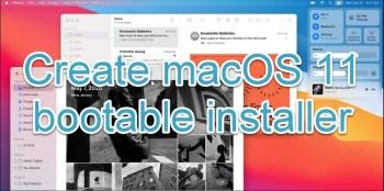 create macOS 11 Big Sur bootable USB