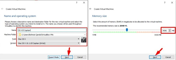 install macOS el caption on virtualbox