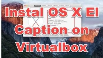 install macOS X El Caption on Virtualbox